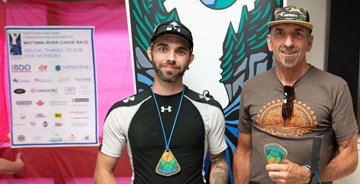 Left Casey Smith -2nd Right Brent Schmidt - 1st Open SUP